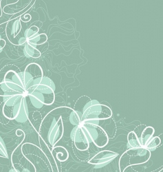 floral back blue vector image
