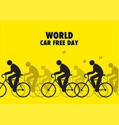 For world car free day awareness vector