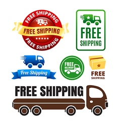 Free shipping badges and icons vector