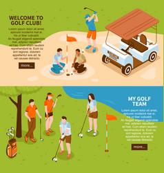 Golf banners set vector