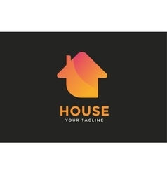 Green house home logo vector