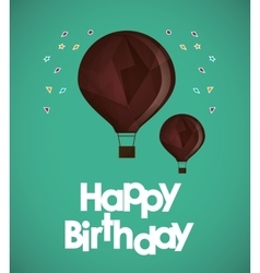 happy birthday air balloons confetti ed vector image