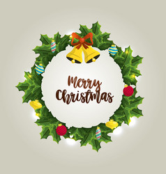 Happy christmas celebration with decoration design vector