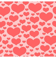 hearts pattern pink2 vector image