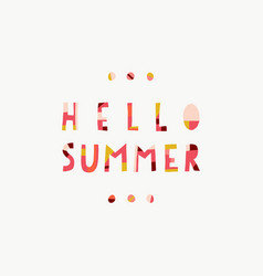 hello summer collage paper cut out style vector image