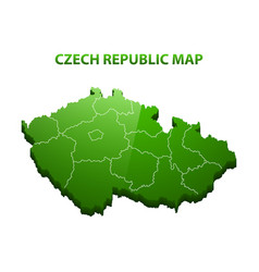 highly detailed three dimensional map of czech vector image