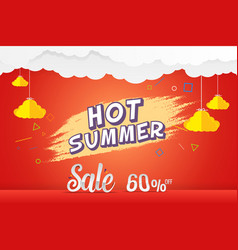 hot summer 60 percen sale discount template vector image