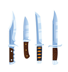 Hunting knife icon design flat style vector