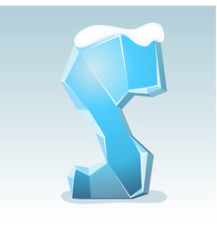 Ice letter s vector
