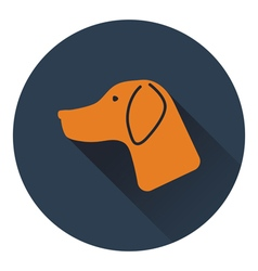 Icon of hinting dog had vector image