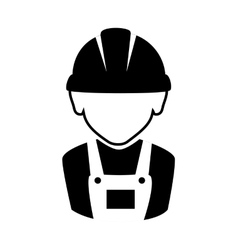 icon silhouette worker construction design vector image