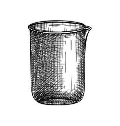 Laboratory equipment sketch hand drawn medicine vector
