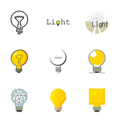 Light bulb icons set cartoon style vector