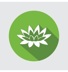 Lily flower icon Waterlily water-lilies floral vector image