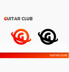 Logo for community of guitarists vector