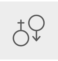 Male and female thin line icon vector image
