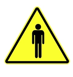 Man attention sign vector image