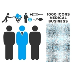 Managers Icon with 1000 Medical Business Symbols vector image