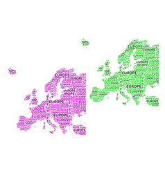 map of continent europe vector image