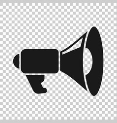 megaphone speaker icon in transparent style vector image