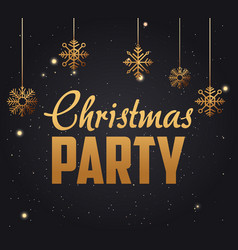 merry christmas party vector image