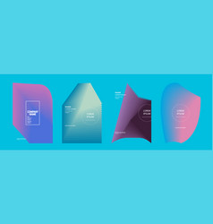 modern covers design set abstract bright neon vector image