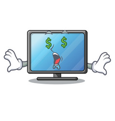 money eye lcd tv isolated with the character vector image