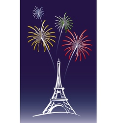 New Year in Paris vector image