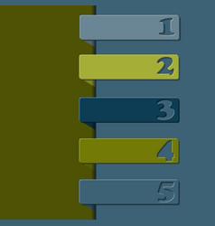 Numbers labels over beige background vector