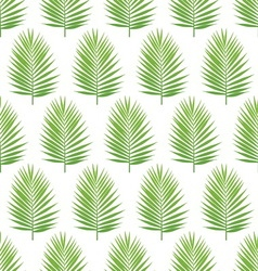 Palm leaf silhouette seamless pattern Tropical vector image vector image