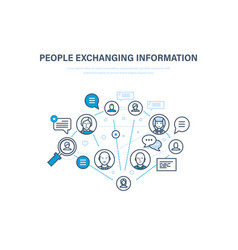 people exchanging information communications vector image