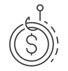 phishing money icon outline style vector image
