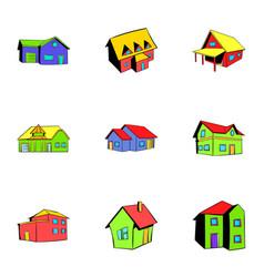 Property icons set cartoon style vector