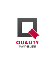quality management symbol for business card design vector image