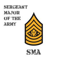 Realistic icon chevron a sergeant vector