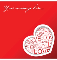 Red love card vector