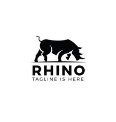 rhino logo template vector image