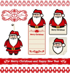 Santa claus set vector