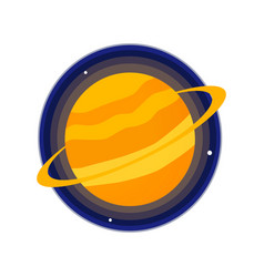 saturn icon vector image