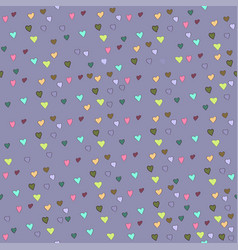 seamless pattern for valentine s day hearts on vector image
