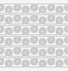 seamless pattern with curve lines swirl geometric vector image