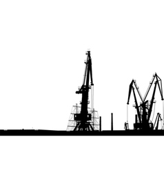 Seaport Silhouette vector