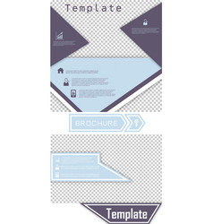 Set of brochure template design with arrows vector