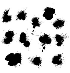 Set of splash stains texture banners black vector