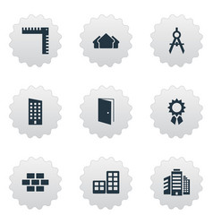 Set simple architecture vector