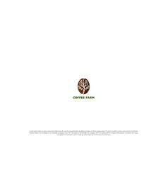 simple minimalist coffee bean with plant tree vector image