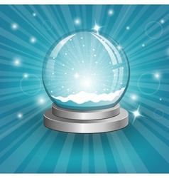 Snow globe on background vector