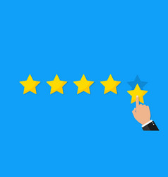 Star rate for customer review and feedback of vector