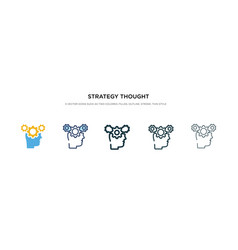 Strategy thought icon in different style two vector