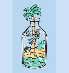 stuck on beach vector image